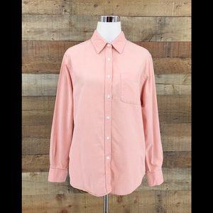 Cabin Creek Women's Pink Button Up Shirt Sz Large